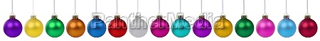 christmas balls baubles banner decoration in