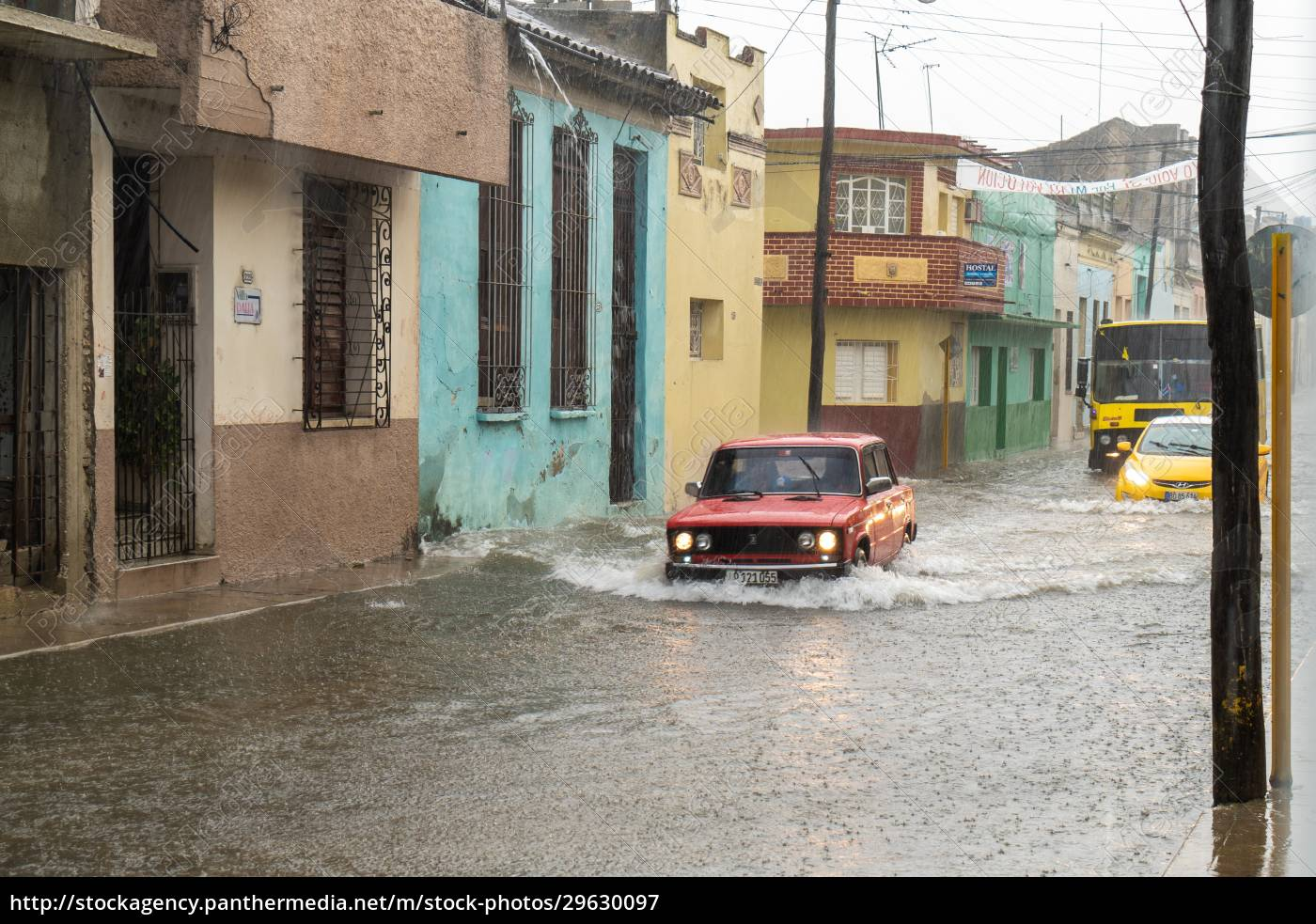 street, flooded, by, rainwater - 29630097