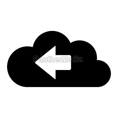 left arrow and cloud