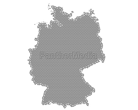 map of germany on cloth with