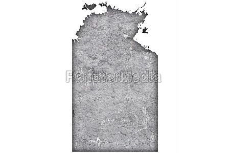map of northern territory on weathered