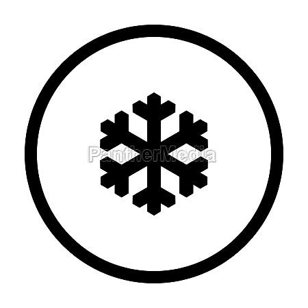 snow flake and circle