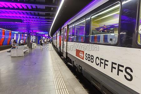 interregio train at flughafen zurich airport