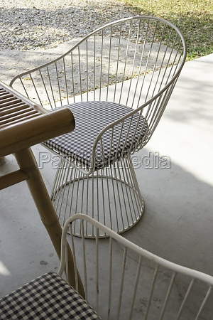 simple resort furniture seat setting arrangement