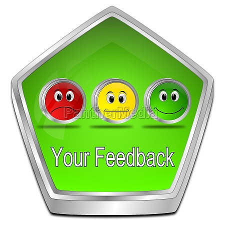 your feedback button green 3d