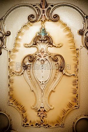 decorating a handicraft furniture in baroque