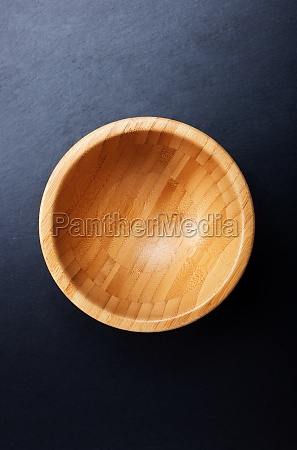 top view of an empty wooden