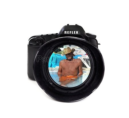 digital photo camera with tourist