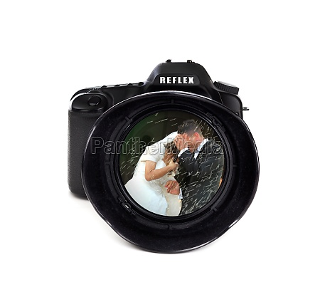 digital photo camera with groom and