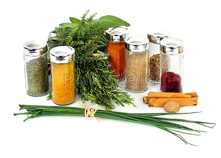 arrangement of spices