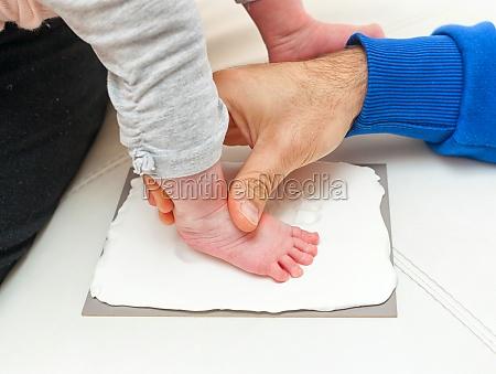 footprint of a newborn