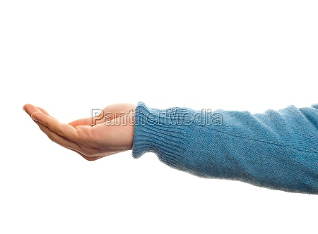 concept of hold with hand