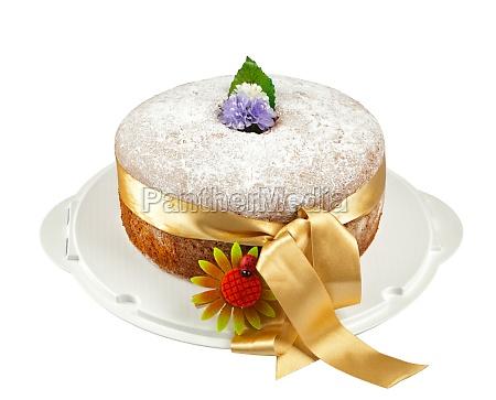 freshly baked chiffon cake