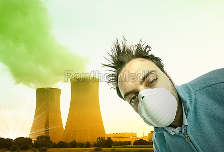 toxic and polluted air