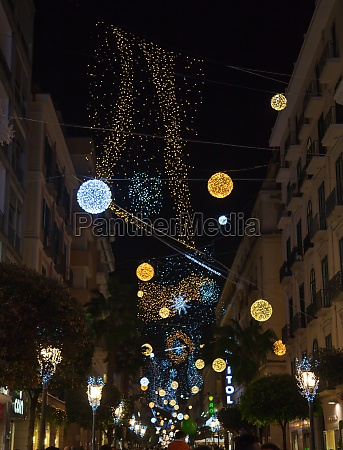 christmas lights in the center of