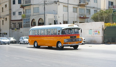 typical bus of malta