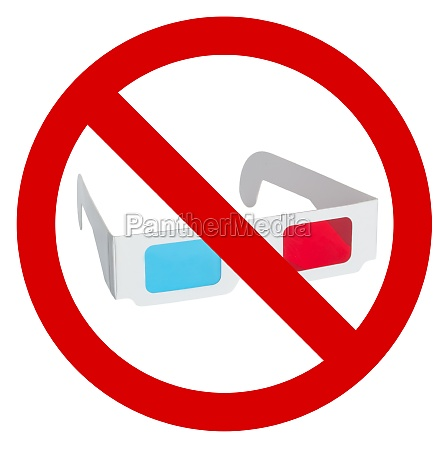 prohibition of use of 3d eyeglasses