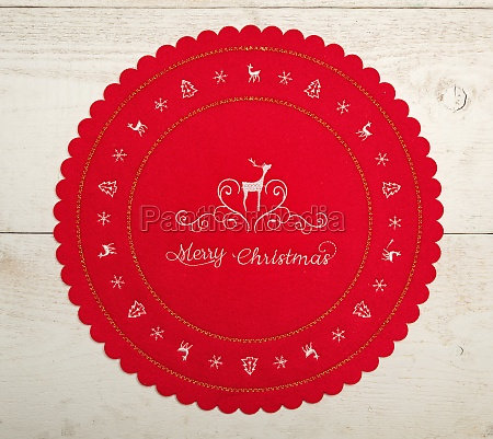 christmas centerpiece or tablemat on white