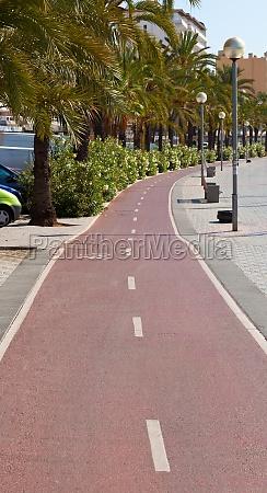 bike path on the promenade of
