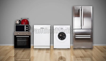 home electronic appliances on floor