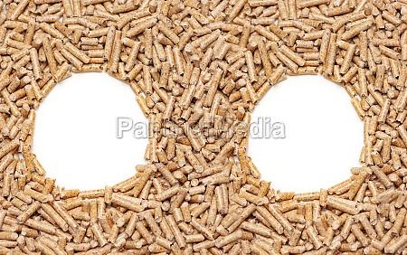 wood pellets frame