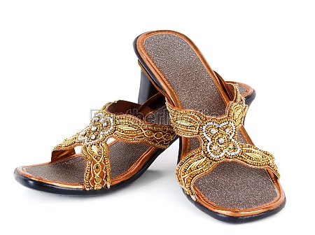pair of traditional indian sandals