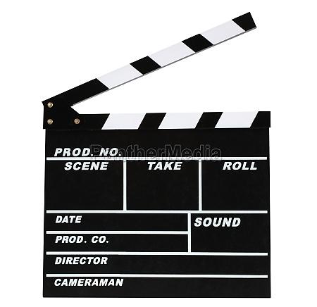 blank movie production clapper board
