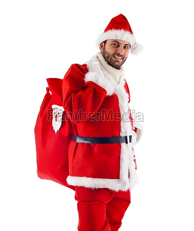 young santa claus isolated on white