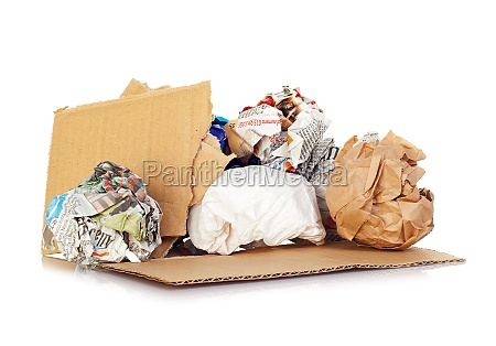 balls of paper for recycling