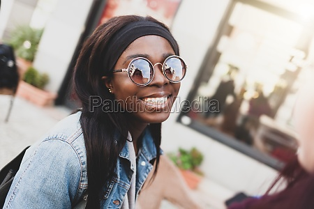 young smiling girl of african ethnicity