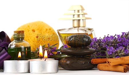 spa accessories and lavender