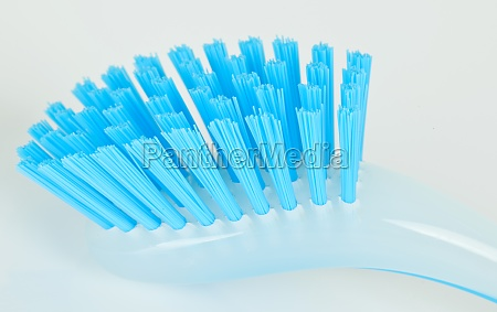 blue plastic brush