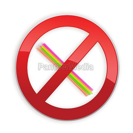 no plastic straws concept