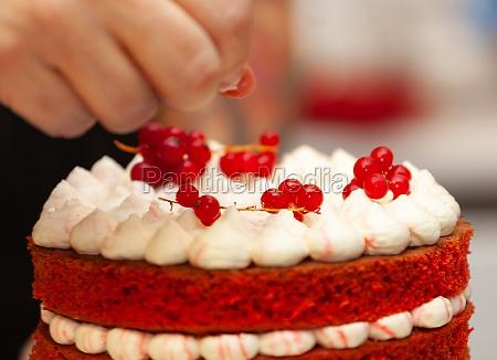 red velvet cake preparation
