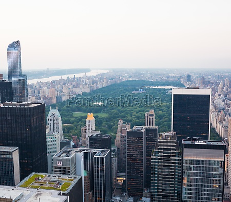 aerial view of central park in