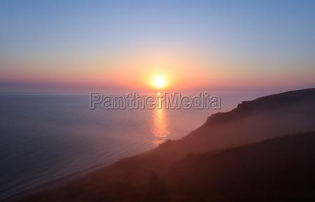 dawn over the sea sea of
