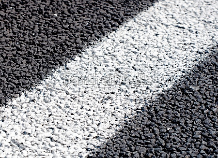 white lines on new road