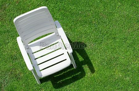 garden chair on law