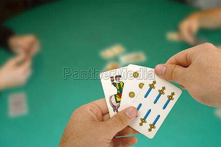 card game with neapolitan cards