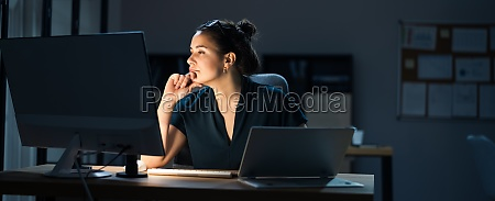 late night workaholic busy business woman