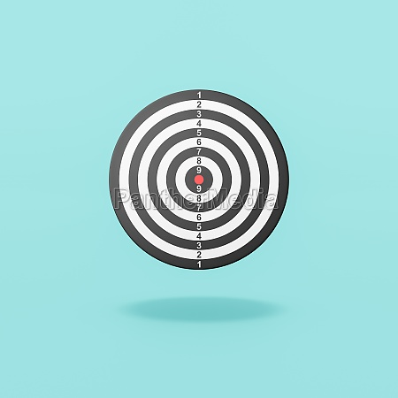 dart target on blue background