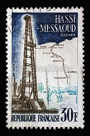 stamp printed in the france shows