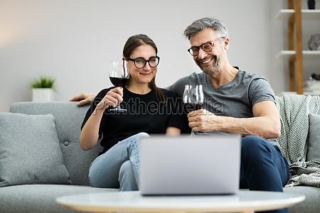 virtual wine tasting online dinner party