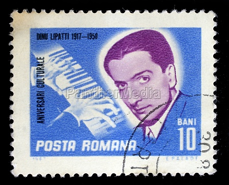 stamp from romania shows image of