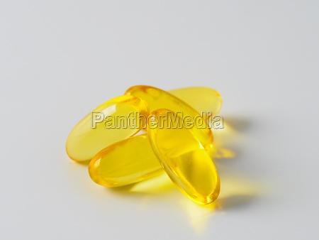 omega 3 fish oil capsules isolated