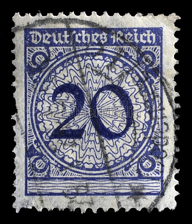 stamp printed in germany shows 20