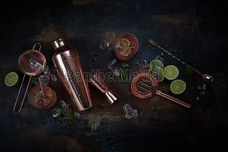 cocktails bar or pub background with