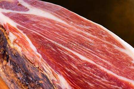 cured spanish iberian bellota pork ham