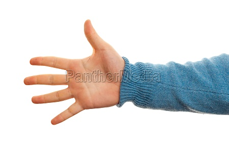 concept of number five with hand