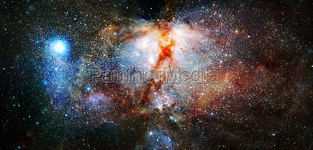 nebula and stars in cosmos space